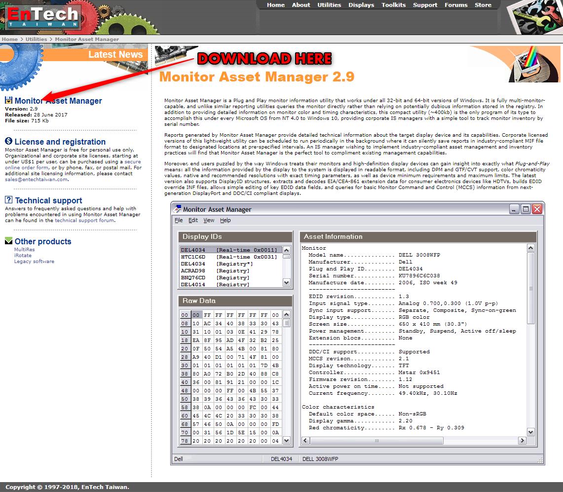 KB01458 - How to copy a display's EDID to a file on a PC