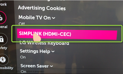Kb01033 How To Enable Cec On Lg Displays Atlona Help Center